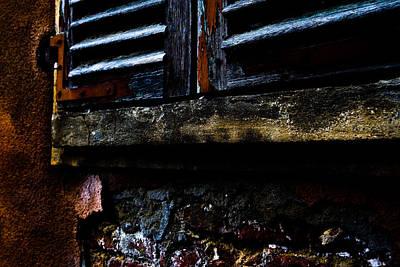 Window Photograph - Old Italia by Michael  Bjerg