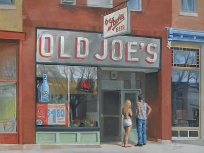 Store Fronts Painting - Old Joe's by Todd Baxter