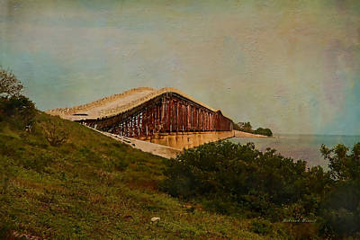 Old Keys Bridge Print by Deborah Benoit