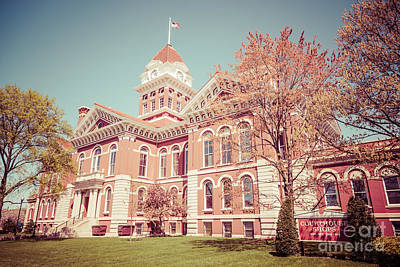 Indiana Photograph - Old Lake County Courthouse Retro Photo by Paul Velgos