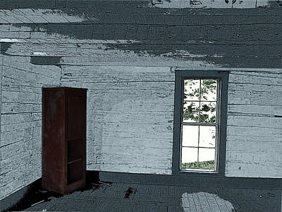 Old Log House Interior Print by Joyce  Wasser