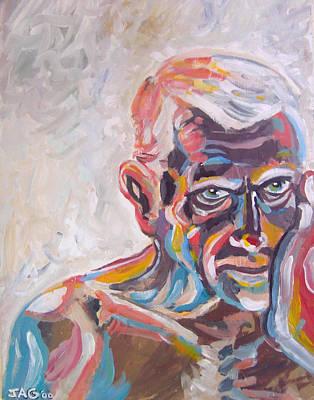Old Man In Time Print by John Ashton Golden