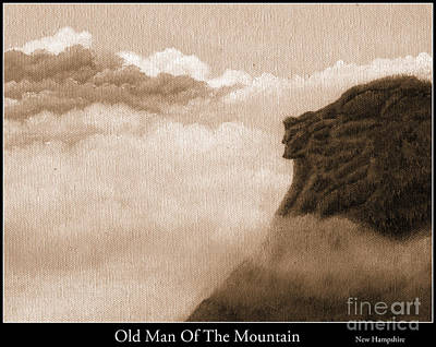Franconia Notch Painting - Old Man Of The Mountains by Tina Zachary