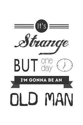 Old Man Print by Parmveer Masuta