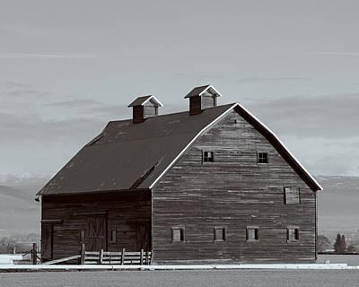 Old Manastash Barn - Kittitas County - Washington Print by Steve G Bisig