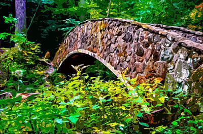 Old Man's Cave Bridge 2 Print by Brian Stevens