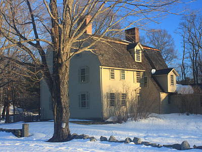 Old Manse Concord In Winter Print by John Burk
