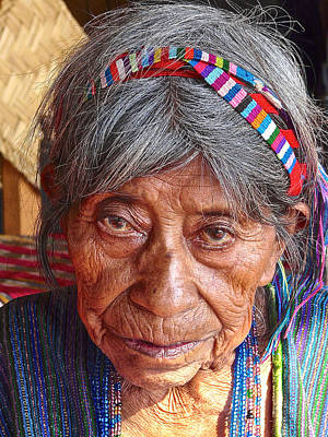 Old Mayan Woman Print by Eye Browses