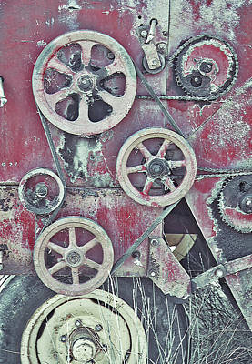 Rural Decay Mixed Media - Old Mechanical - Craquelure by Steve Ohlsen