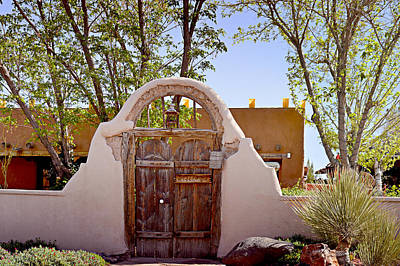 Entrance Photograph - Old Mesilla - Las Cruces Nm by Christine Till