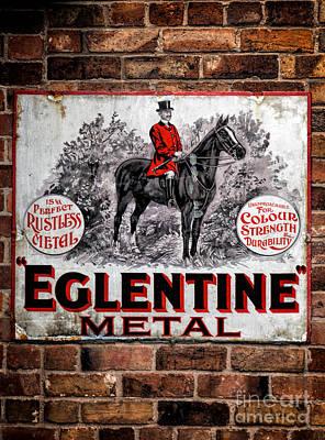 Old Metal Sign Print by Adrian Evans