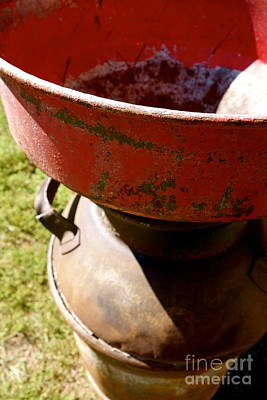 Contry Photograph - Old Milk Can by Jacqueline Athmann