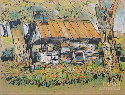 Old Milk House Print by Larry Lerew