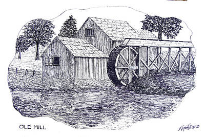 Old Mill Print by Frederic Kohli
