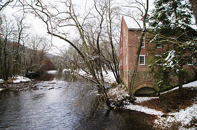 Old Mill On Yellow Breeches Creek In Mechanicsville Pa Print by Bill Cannon