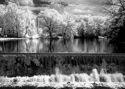 Grist Mill Photograph - Old Mill Pond In Infrared by Paul W Faust -  Impressions of Light