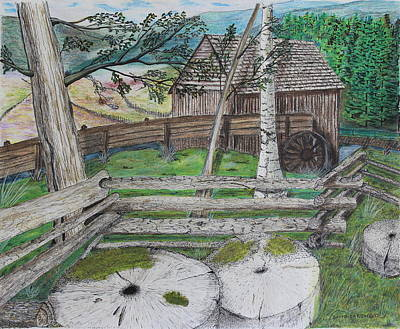 Old Mill Stones Print by David Cardwell