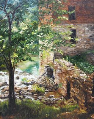 Forest Painting - Old Mill Stream I by Lori Brackett