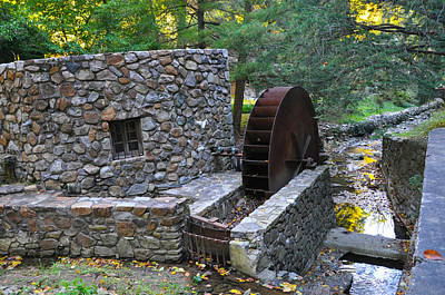 Old Mill Wheel Print by Bill Cannon
