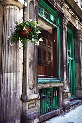 Old Montreal Architecture Print by John Rizzuto