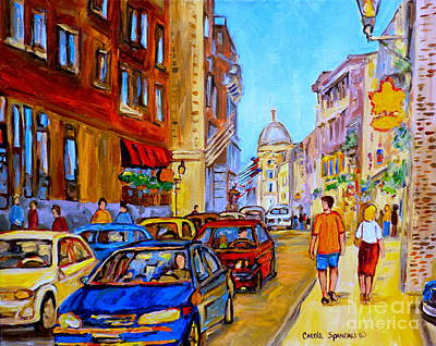 Montreal Streets Painting - Old Montreal by Carole Spandau