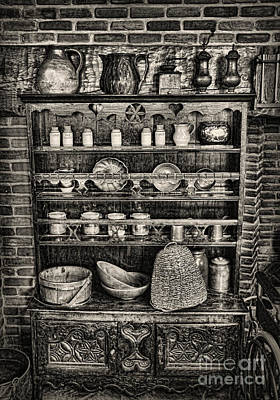 Old Mother Hubbard's Cupboard Print by Lee Dos Santos