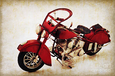 Past Mixed Media - Old Motor-bike by Angela Doelling AD DESIGN Photo and PhotoArt