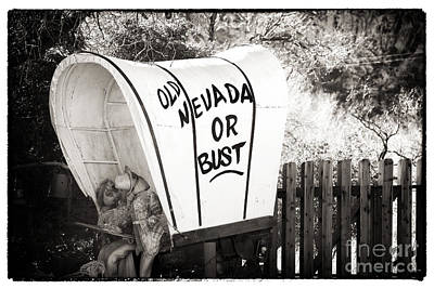 Old Nevada Or Bust Print by John Rizzuto