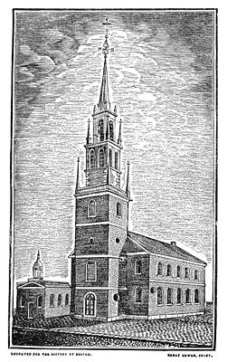 Old Christ Church Photograph - Old North Church, 1775 by Granger