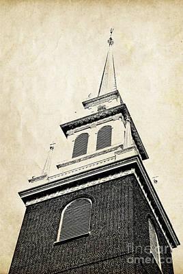 Old North Church In Boston Print by Elena Elisseeva