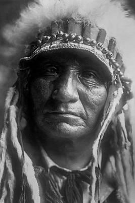 Old Oglala Man Circa 1907 Print by Aged Pixel