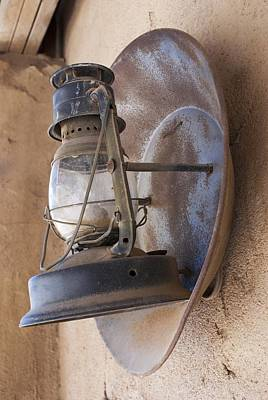 Old Oil Lamp With Reflector Print by Science Photo Library