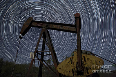 Old Oil Pump Deep In The Heart Of Texas Print by Keith Kapple