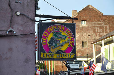 Aligator Photograph - Old Opera House - New Orleans by Bill Cannon