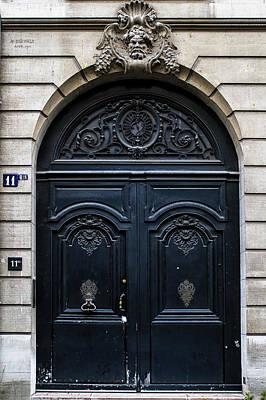 Old Parisian Door Print by Georgia Fowler