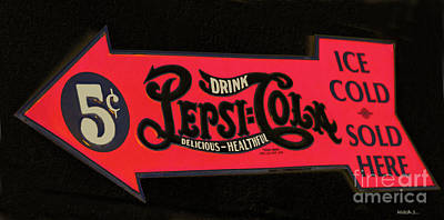 Old Pepsi Sign Print by Mitch Shindelbower
