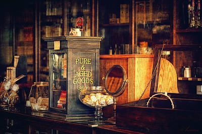 Old Pharmacy Print by Maria Angelica Maira
