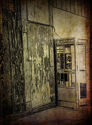 Old Phone Booth Photograph - Old Phone Booth Along A City Street by Randall Nyhof
