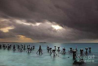 Old Pier In The Florida Keys Print by Keith Kapple