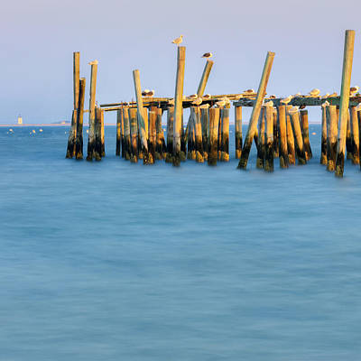 Cape Cod Photograph - Old Pier Square by Bill Wakeley