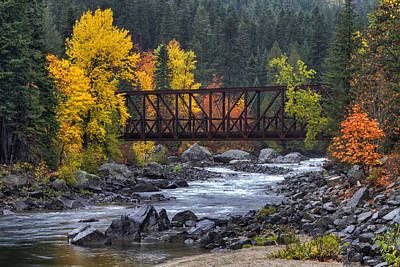 Iron Photograph - Old Pipeline Bridge by Mark Kiver