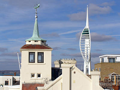 Old Portsmouth's Towers Print by Terri Waters