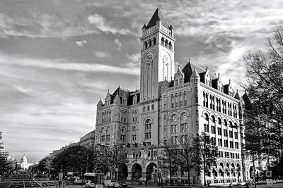 Old Post Office And Pennsylvania Avenue Print by Olivier Le Queinec