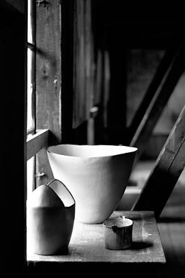 Old Pots At The Window Print by Toppart Sweden