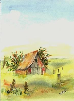 Old Prairie Barn Print by David Patrick