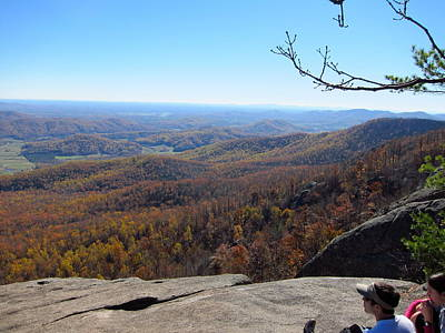 Old Rag Hiking Trail - 121228 Print by DC Photographer