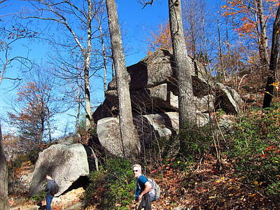 Old Rag Hiking Trail - 12129 Print by DC Photographer