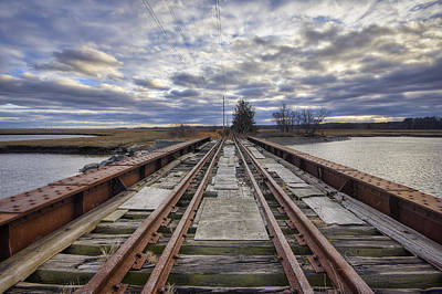 Old Rail Bridge Print by Eric Gendron