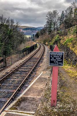 Llangollen Digital Art - Old Railway Sign by Adrian Evans