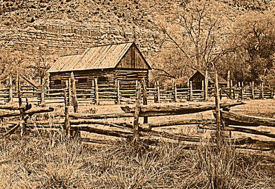 Old West Photograph - Old Ranch by Leland D Howard